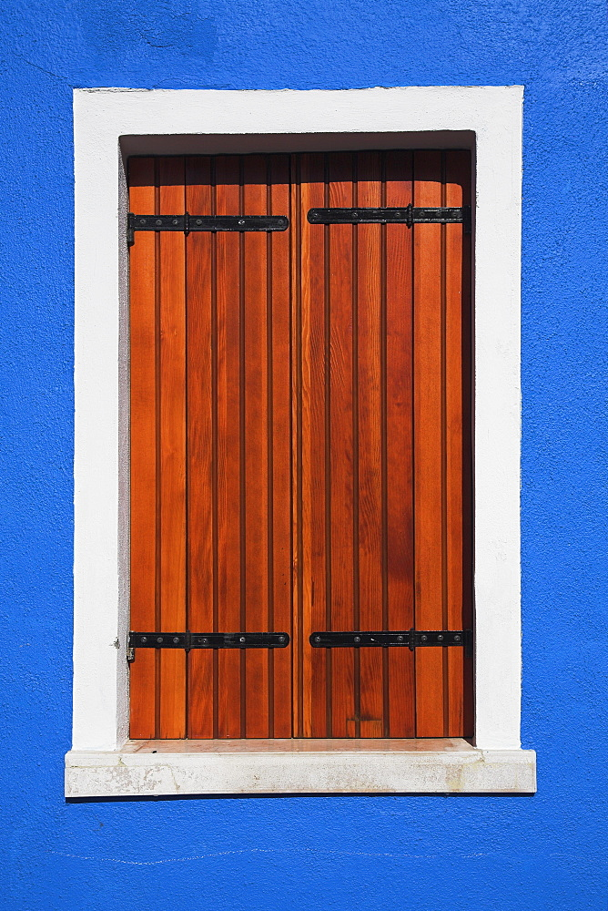 Wooden Shuttered Window, Burano, Italy