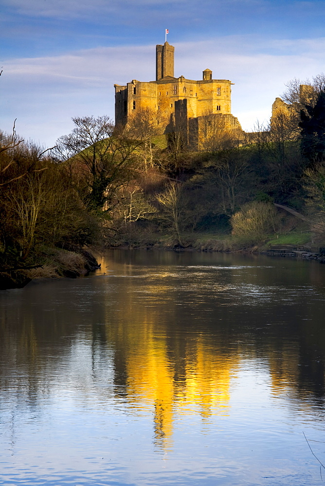 Church Reflection In Water, Warkworth, Northumberland, England