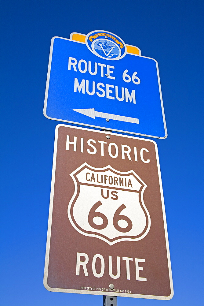 Signs, Route 66 Museum, Victorville, California, Usa