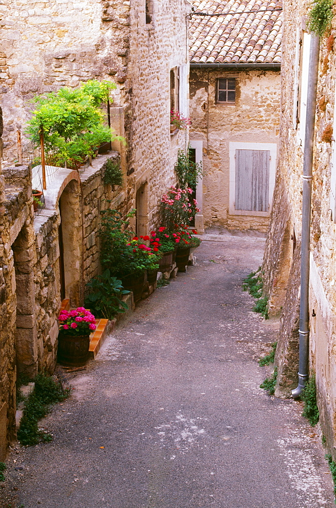 Narrow Street, Grignan, Provence, France