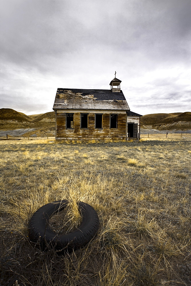 Abandoned Church, Dorothy, Alberta, Canada