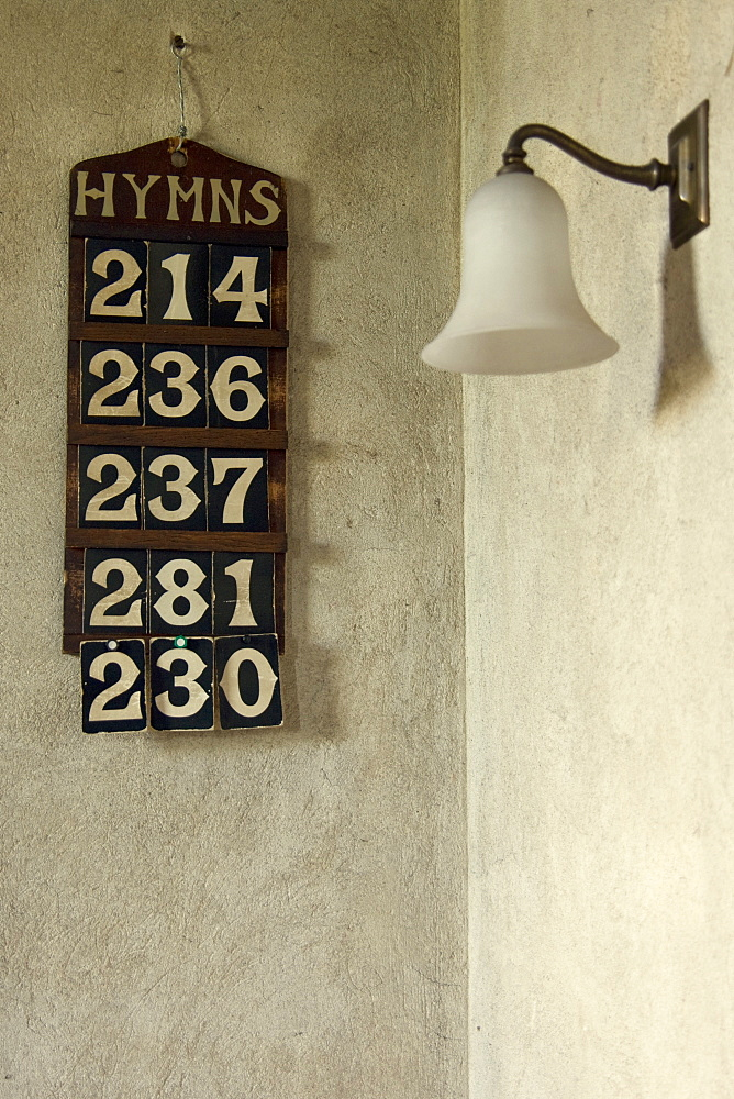 Hymn Board In Church