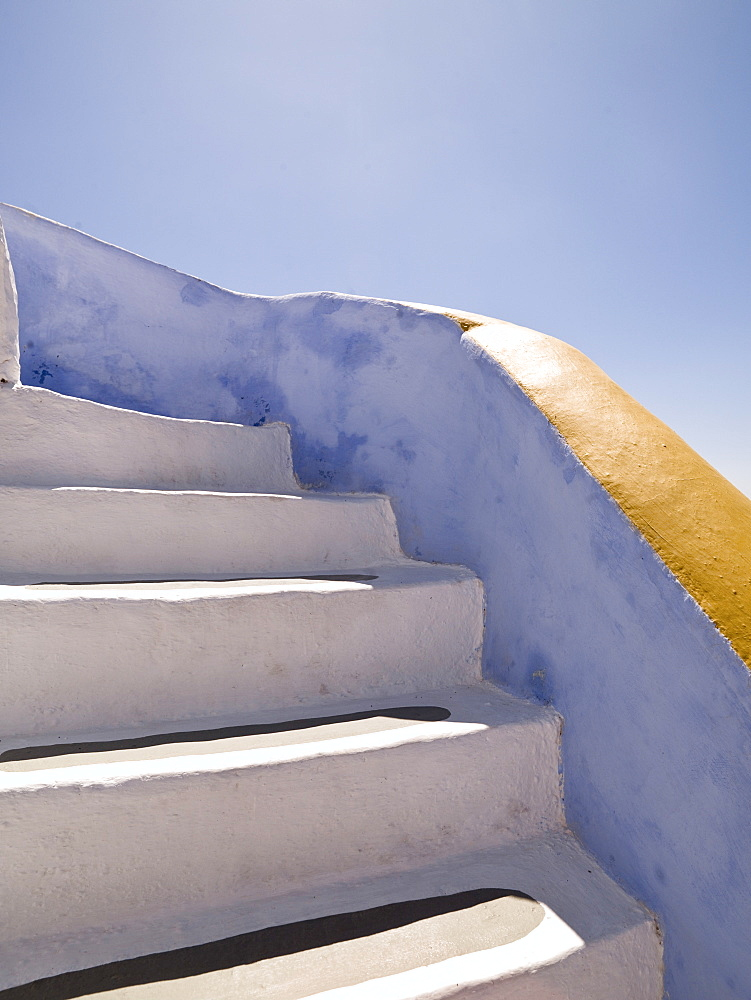 Whitewashed Stairs, Santorini, Greece - 1116-40517