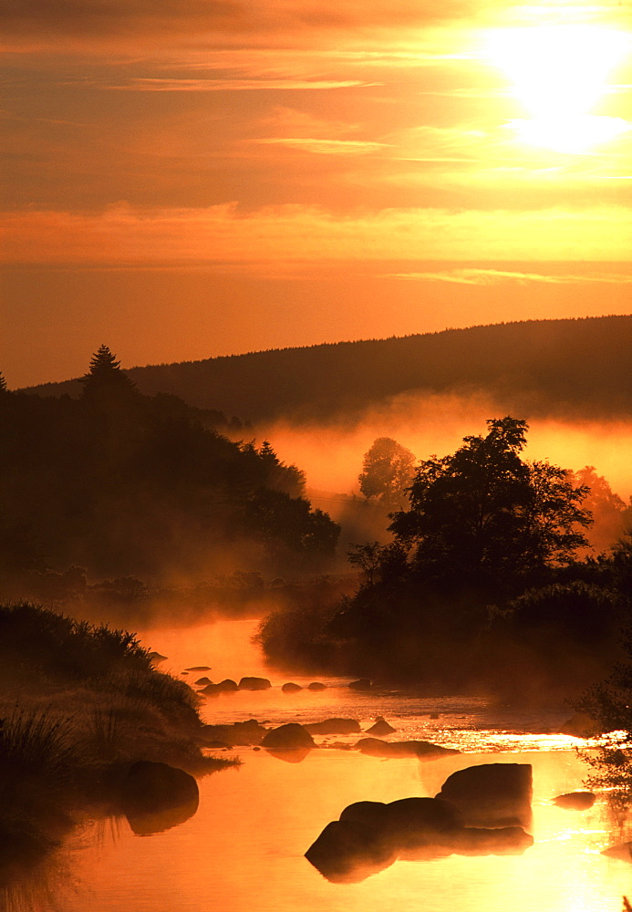 Sunset, Glendalough, Glendalough, Co Wicklow, Ireland