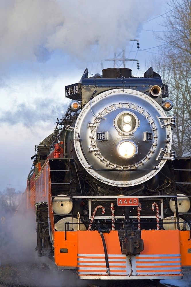 Steam Locomotive, Oaks Bottom Wildlife Refuge, Portland, Oregon, Usa