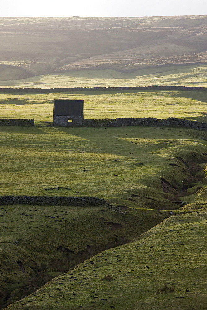Stone Building And Walls, Weardale, England