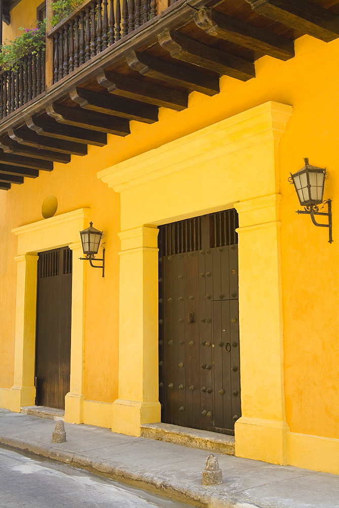 Cartagena City, Bolivar State, Colombia, Central America, Doors In Old Walled City District
