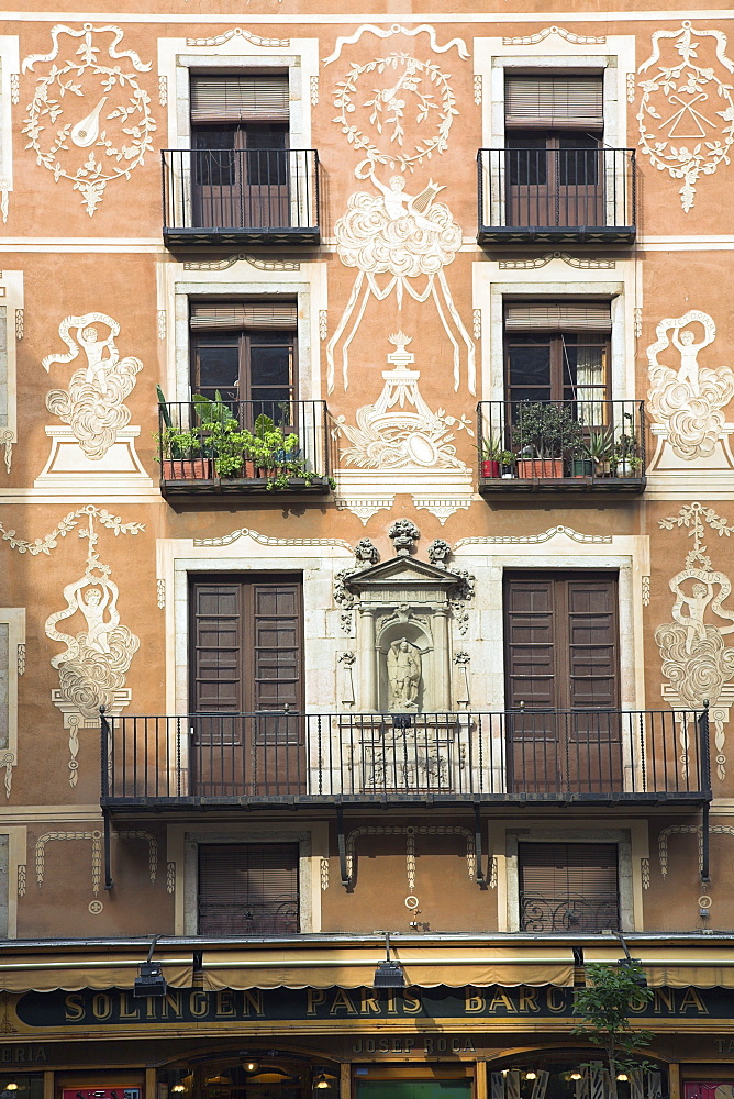 Decorative Friezes On Building, Barcelona, Spain