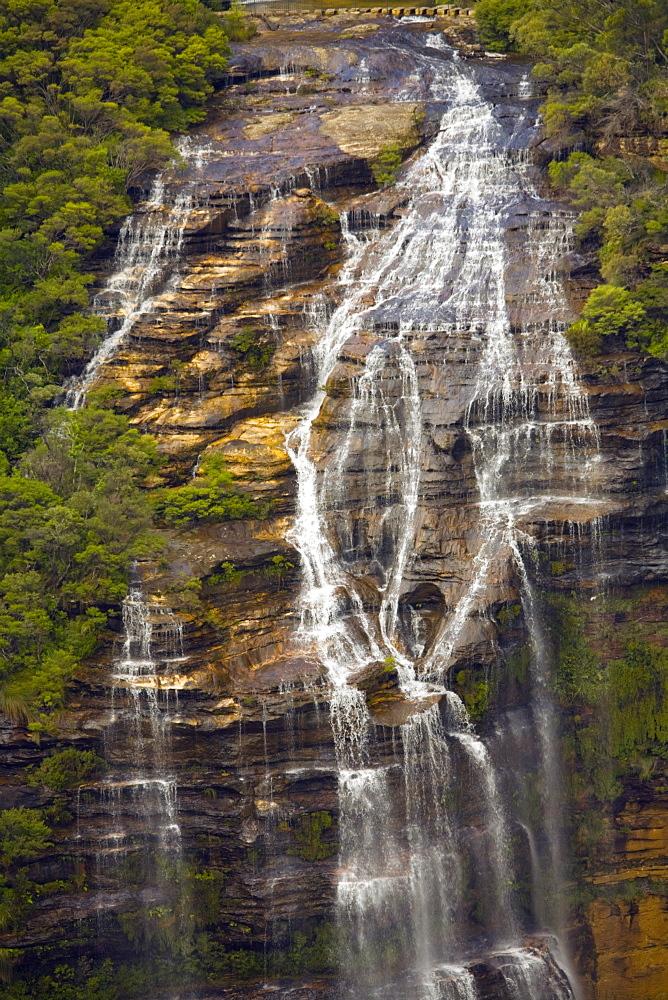 Waterfall Down A Steep Slope