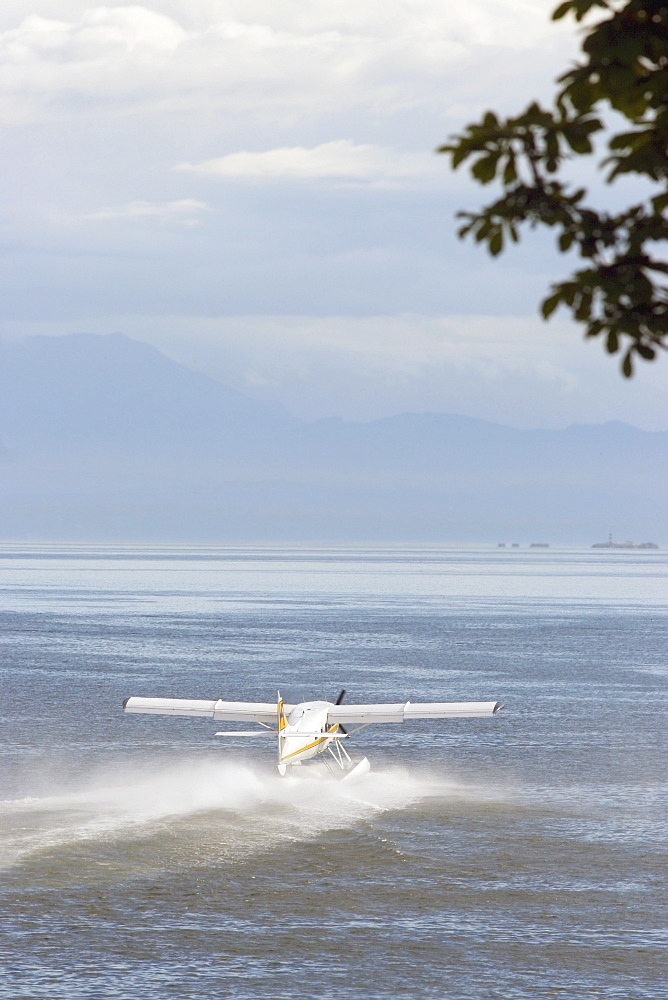 Victoria, British Columbia, Canada, A Float Plane On The Water