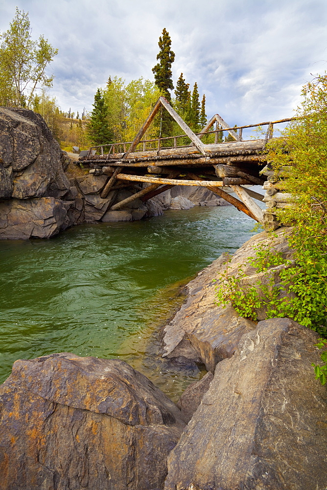 A Historic Log Bridge, Frontier Bridge, Haines Junction, Yukon Territory, Canada