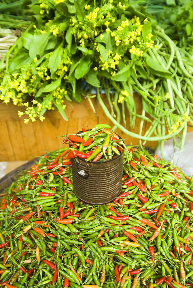 Chilli Peppers For Sale At The Market, Mae Hong Son Province, Thailand