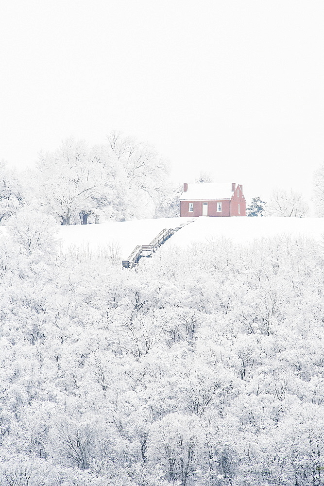 John rankin house in winter, Ripley, ohio, united states of america