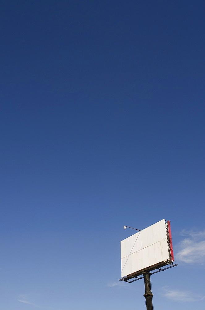 Empty outdoor billboard against a blue sky, Aguascalientes aguascalientes mexico
