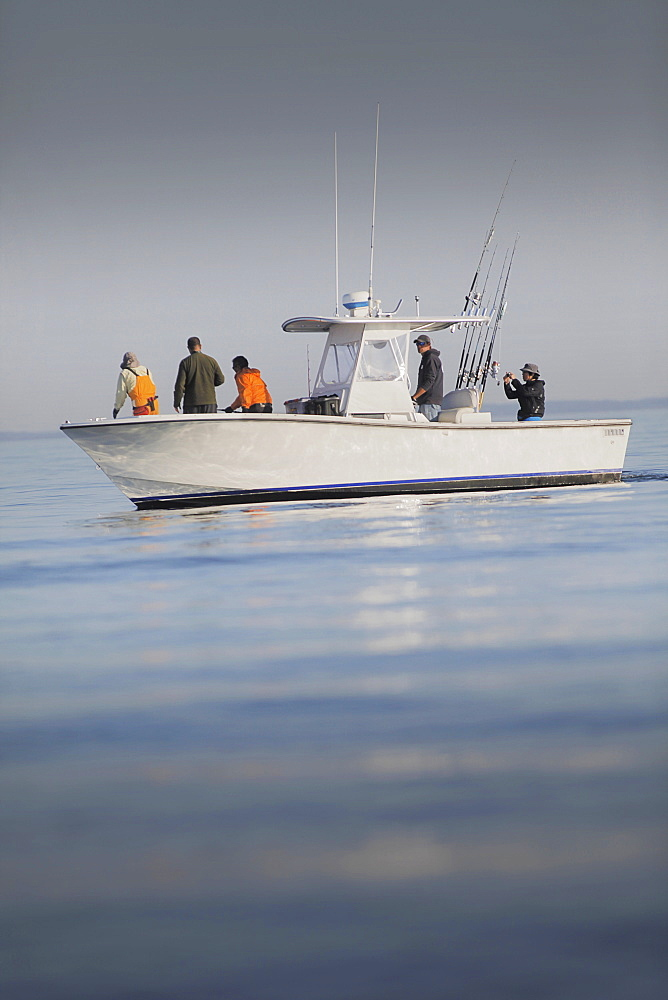 Fishing boat in cape cod bay, cape cod massachusetts united states of america