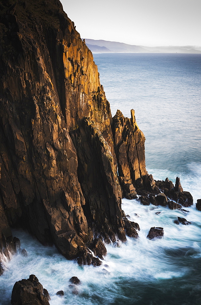 Rugged Coastline Is Found At Oswald West State Park, Manzanita, Oregon, United States Of America
