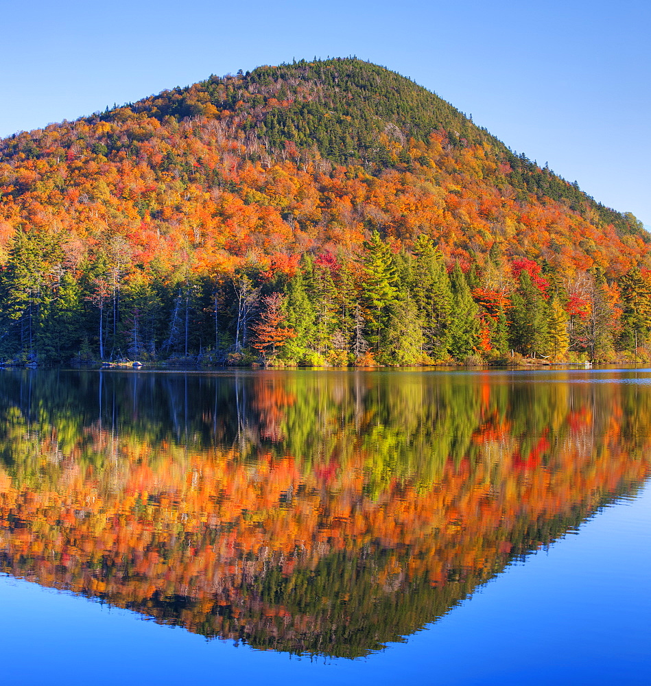 Mountain Reflected In Sugarloaf Pond In Autumn, Quebec, Canada