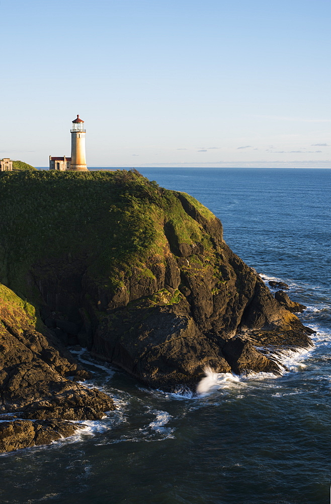 The North Nead Lighthouse Is Located At Cape Disappointment State Park, Ilwaco, Washington, United States Of America