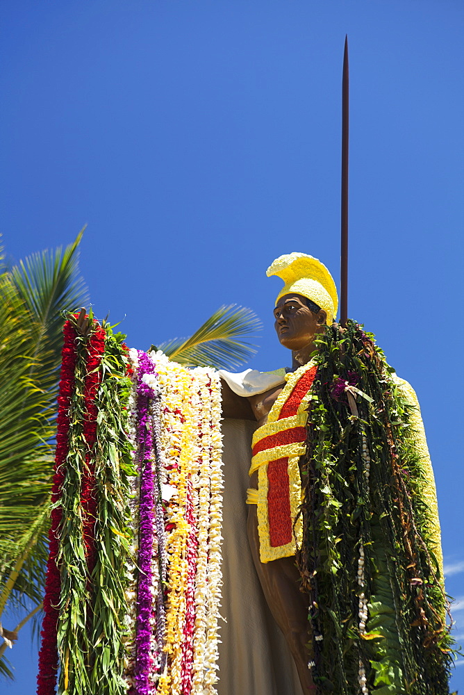 Original King Kamehameha I Statue, Big Island, Hawaii, United States Of America