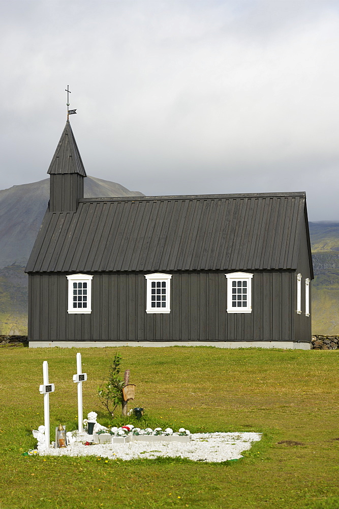 Budir Church, Stadarsveit, Snaefellsnes, Iceland