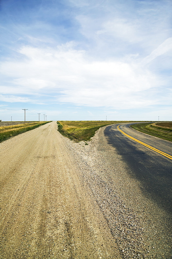 Fork In The Road, Saskatchewan, Canada