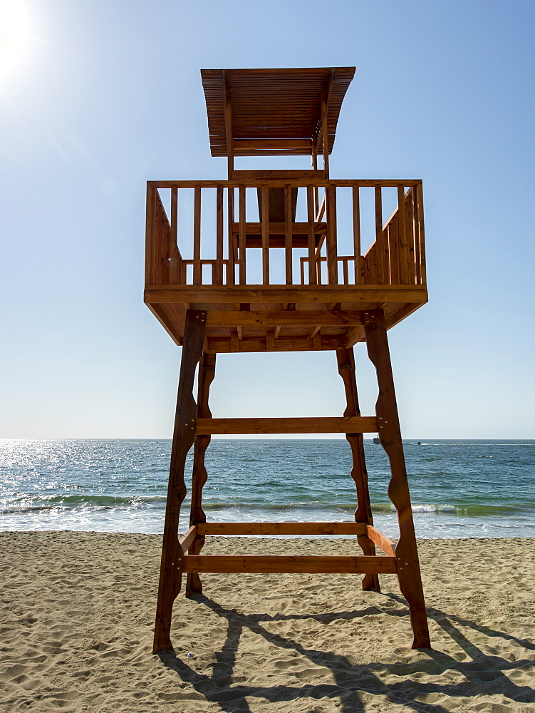 Lifeguard Chair On The Beach, Vina Del Mar, Valparaiso, Chile