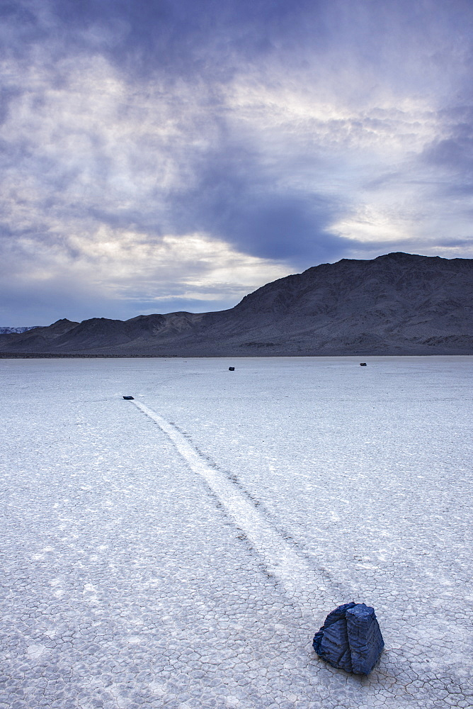 Rocks And Dried Lake Bed At The Racetrack In Death Valley National Park, California, United States Of America