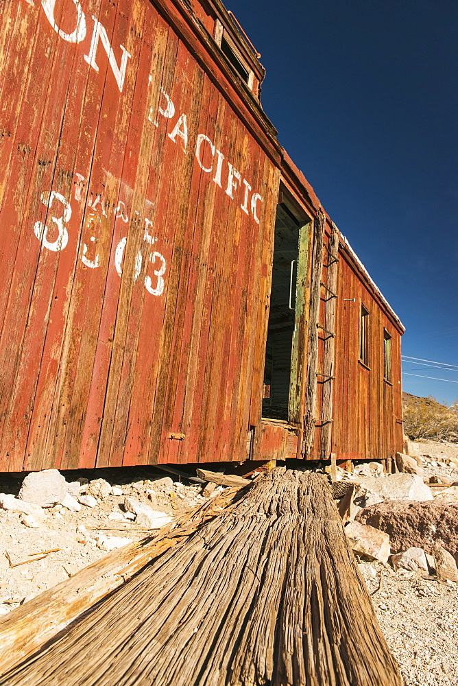 Old Union Pacific Rail Car, Near Death Valley National Park, Rhyolite, California, United States Of America