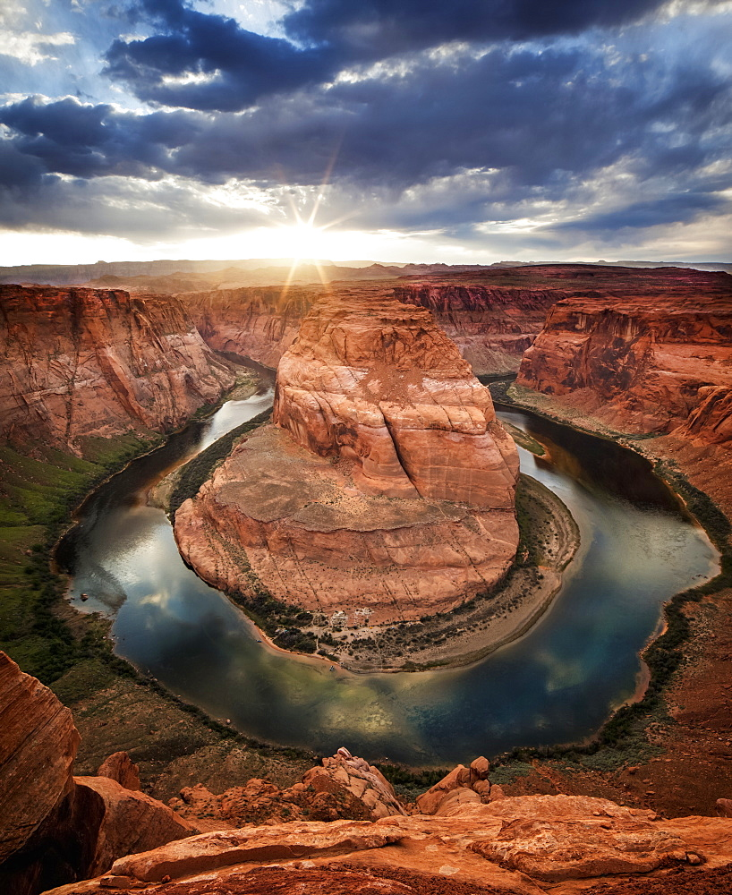 Dramatic Sunset At Horseshoe Bend, Page, Arizona, United States Of America