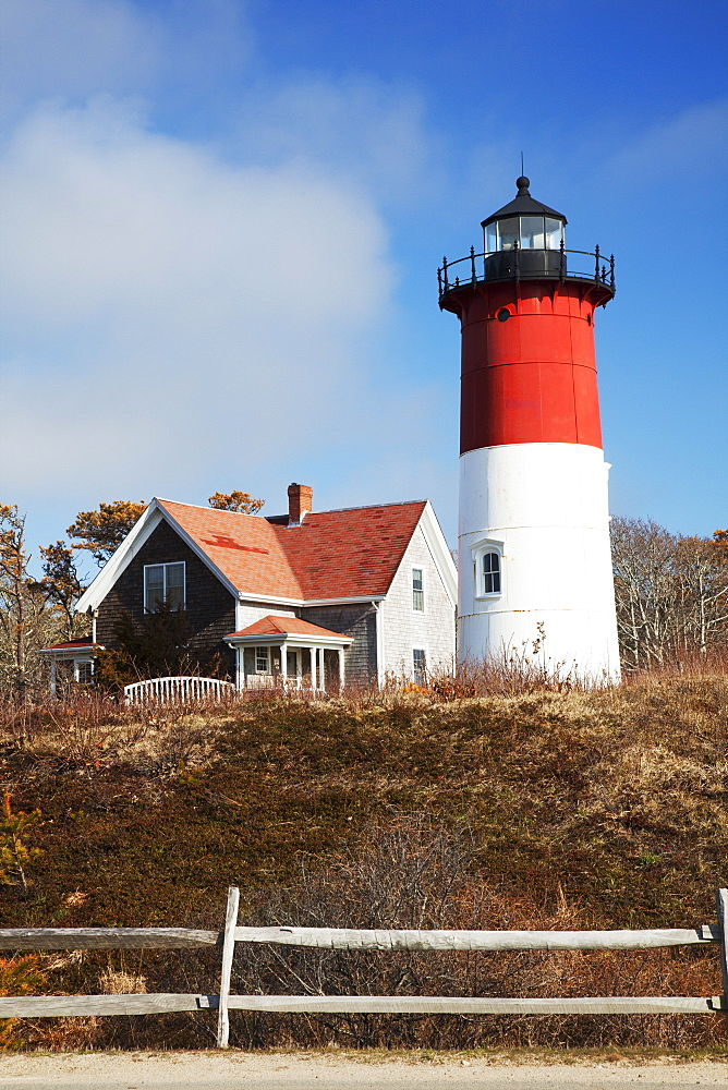 Nauset Lighthouse, Cape Cod, Eastham, Massachusetts, United States Of America