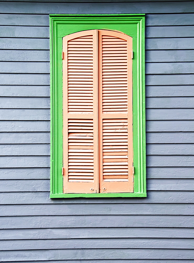 Louisiana, New Orleans, Detail Shot Of A Colorful Home.