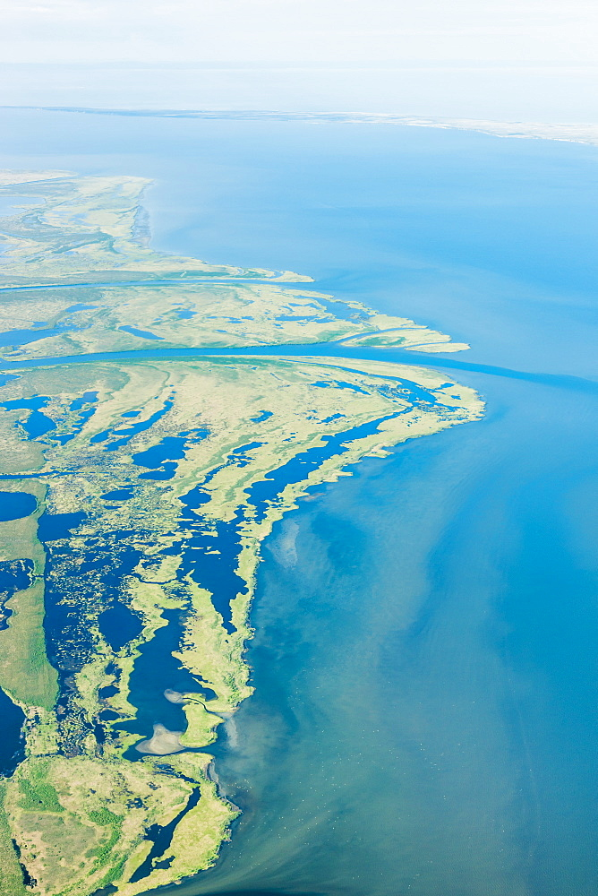 An Aerial View Of Hotham Inlet, The Kobuk River Delta And Surrounding Lakes And Wetlands, Kobuk, Arctic Alaska, Summer