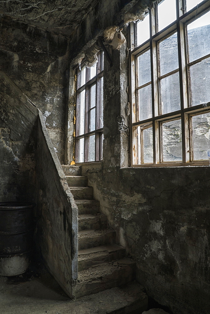 Inside The Old Abandoned Herring Factory, Djupavik, Iceland