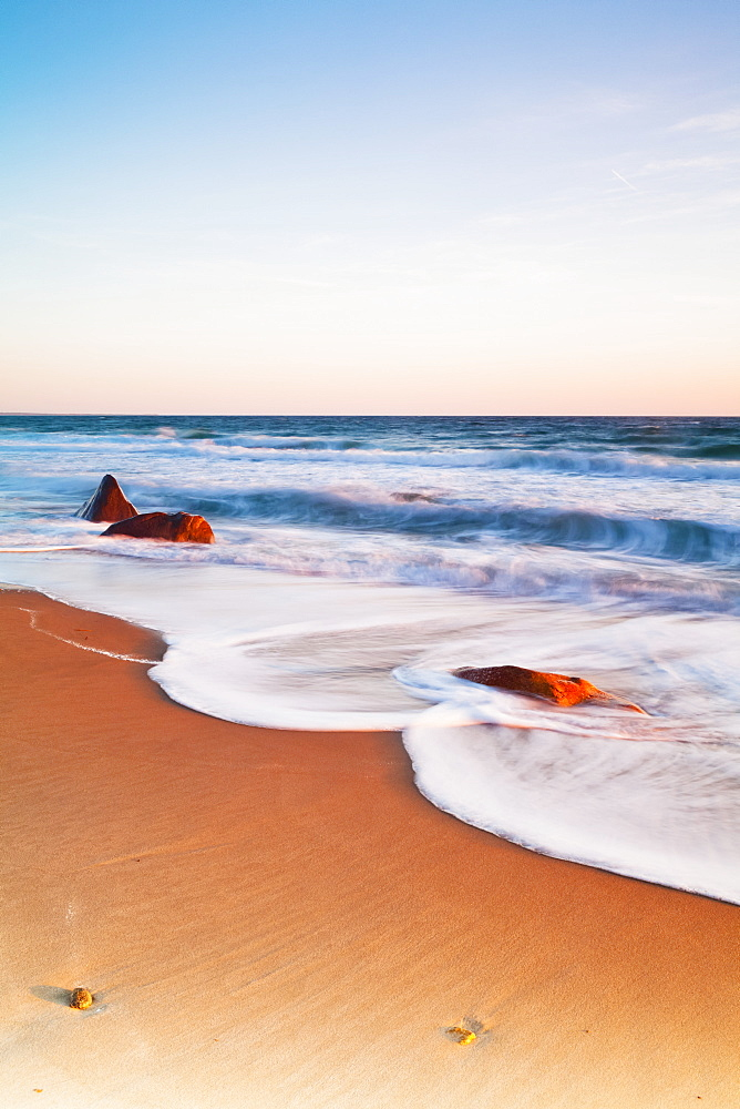Gay Head Public Beach At Sunset, Martha's Vineyard, Massachusetts, United States Of America
