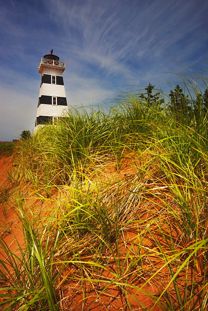 Lighthouse On A Beach, Prince Edward Island, Canada