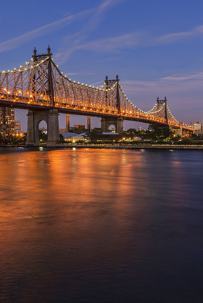 Queensboro (59th Street) Bridge At Twilight, Queens, New York, United States Of America
