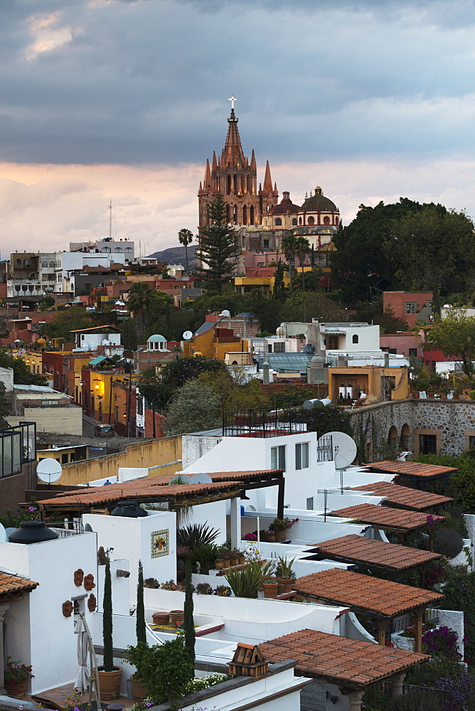 Cityscape With Parish Church, San Miguel De Allende, Guanajuato, Mexico
