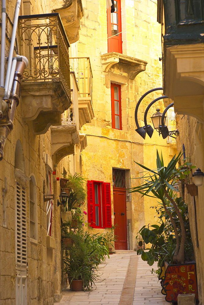 Colourful Doors And Shutters On Residential Buildings, Malta