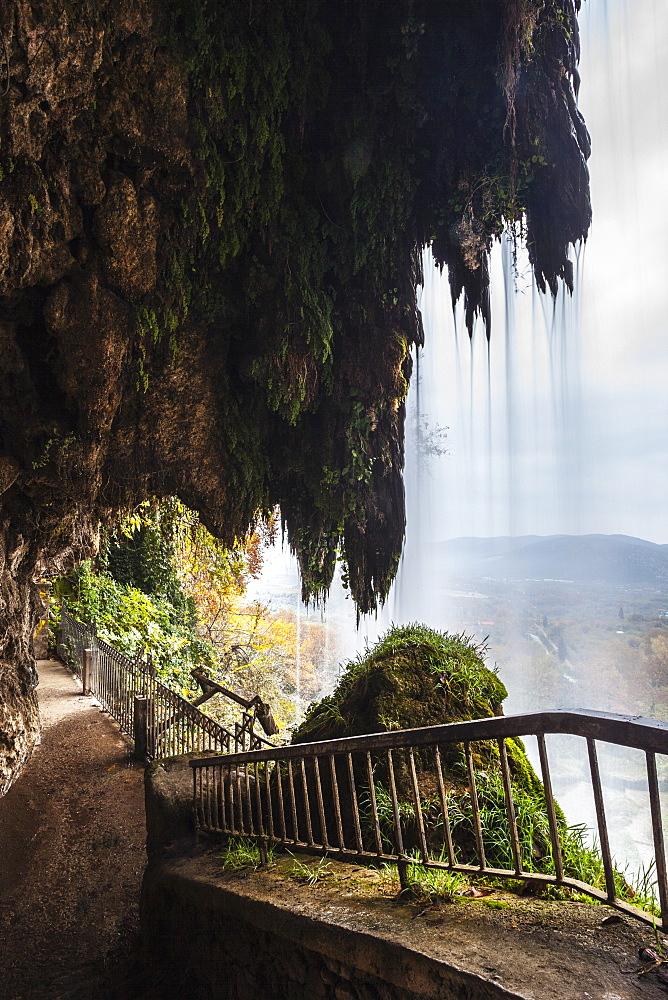 A Walkway Behind A Waterfall, Edessa, Greece