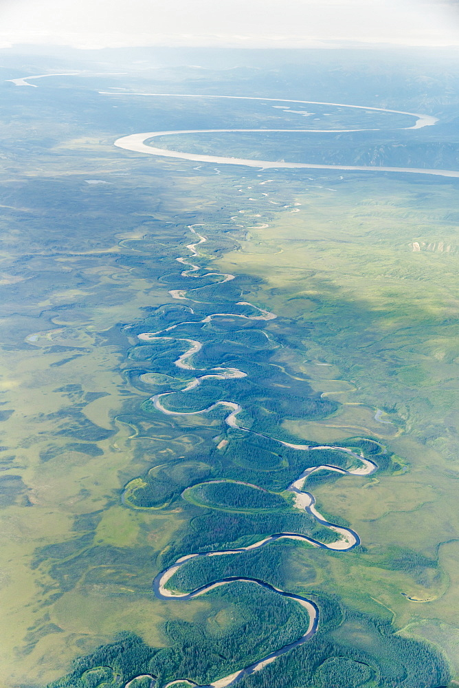 Aerial View Of The Yukon River, Alaska, United States Of America