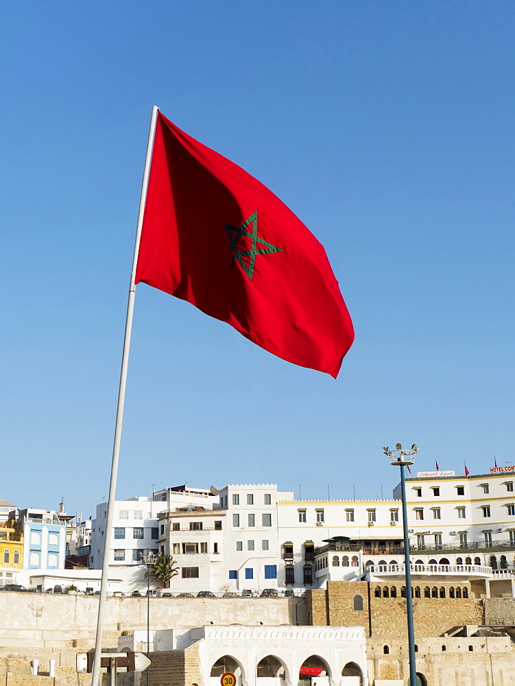 Moroccan Flag, Tangier, Morocco