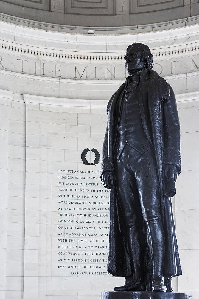 Statue At Thomas Jefferson Memorial, Washington, District Of Columbia, United States Of America