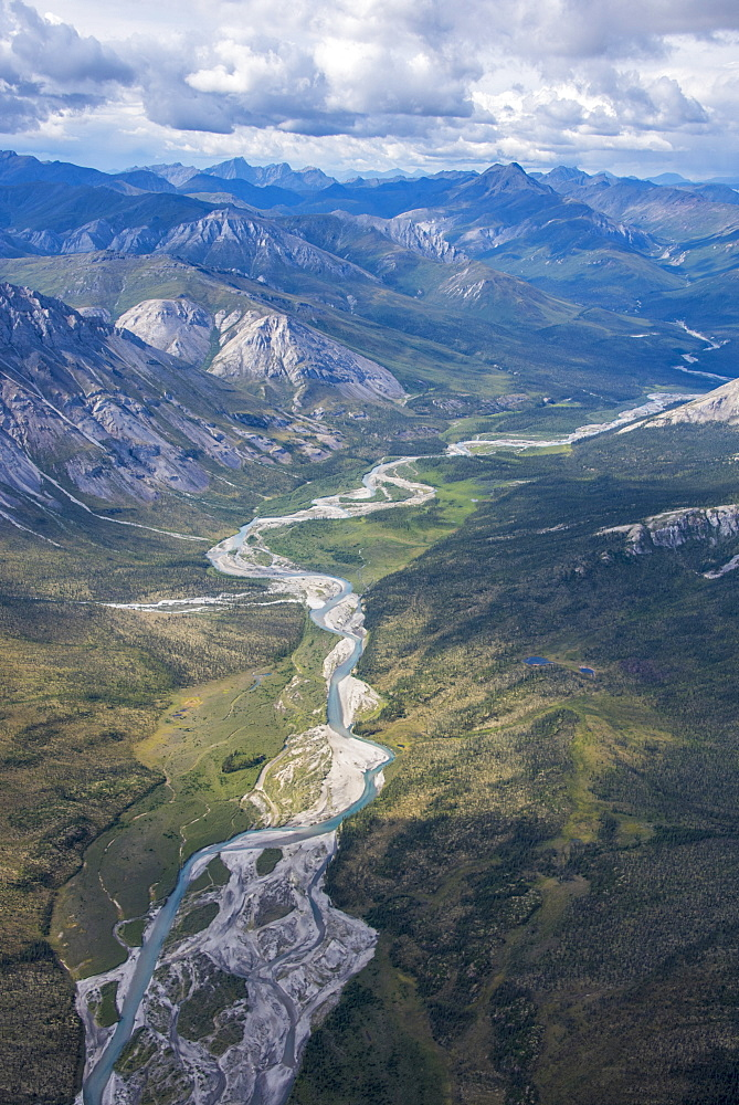 Aerial View Of The Brooks Range In Summer, Anwr, Alaska