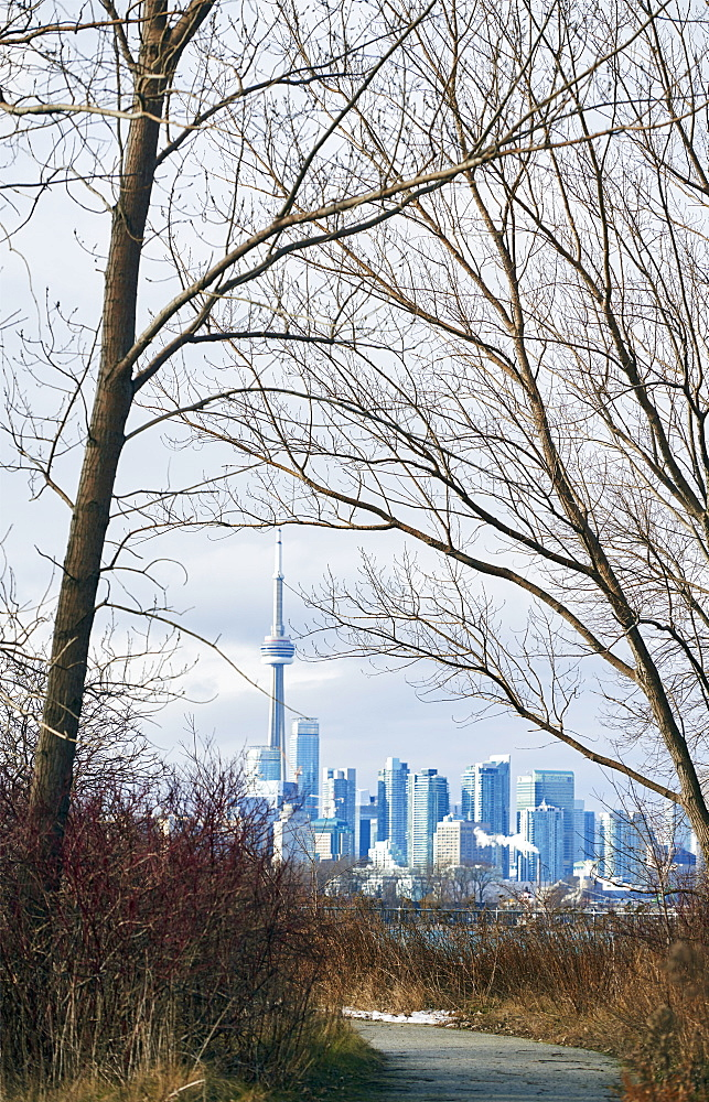 View Of Downtown Toronto From Tommy Thompson Park, Toronto, Ontario, Canada