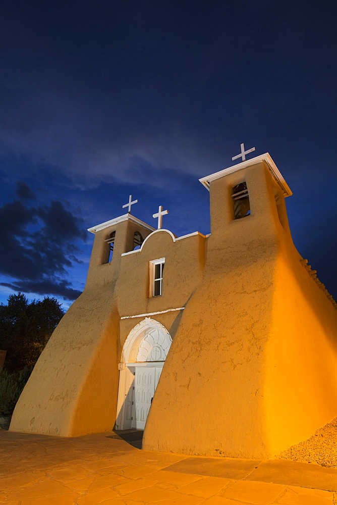 San Francisco De Asis Mission Church, National Historic Landmark, Established In 1772, Ranchos De Taos, New Mexico, United States Of America
