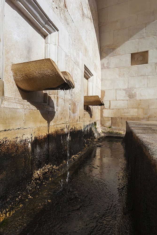 Water Flowing From A Spout At Mary's Well, Nazareth, Israel