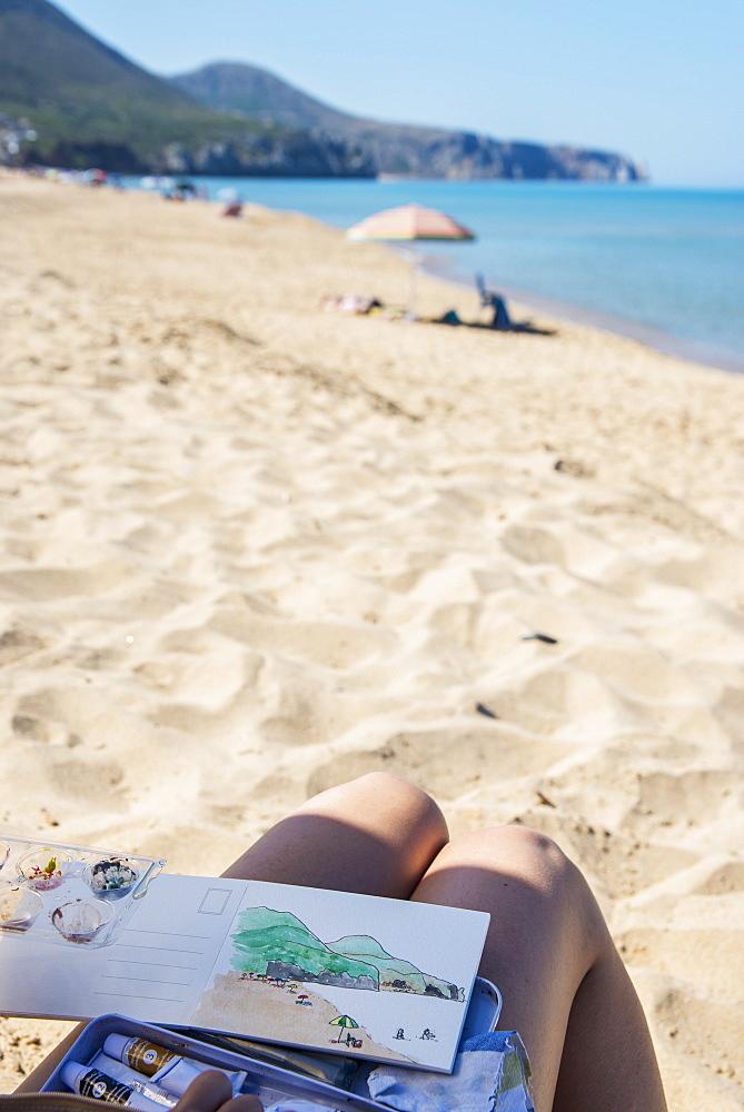 Portixeddu Beach, Carbonia Iglesias, Sardinia, Italy