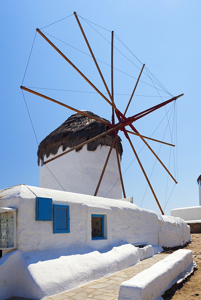 Traditional Windmill, Chora, Mykonos, Greece