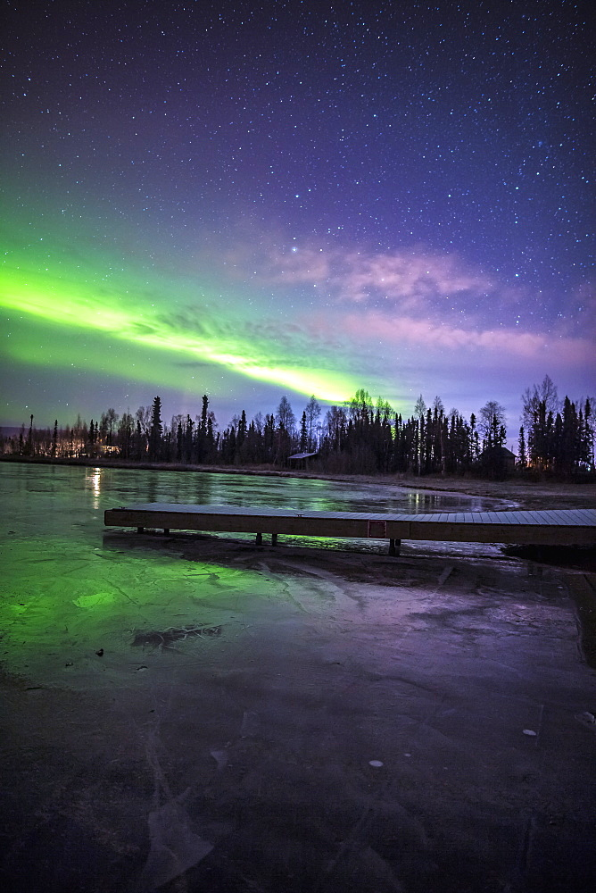 Northern Lights Over Big Lake North State Recreational Site, Southcentral Alaska