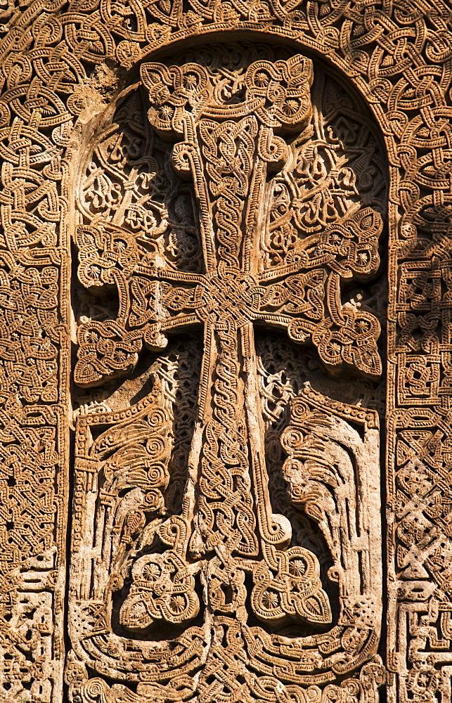 Khachkar, An Armenian Cross-Stone At Sanahin Monastery, Lori Province, Armenia